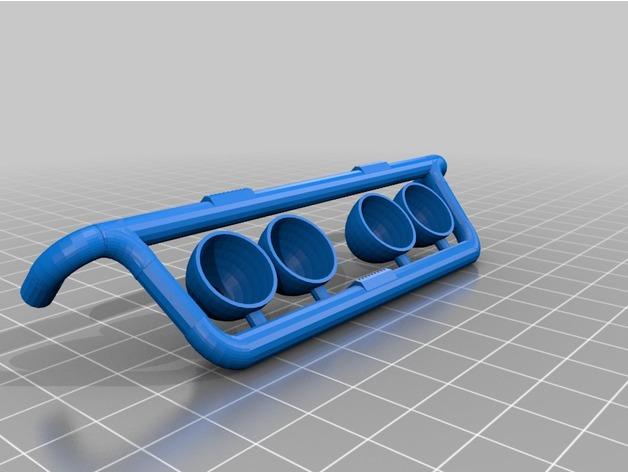 Spot de Toit 3D ou Rampe de Toit 3D à led pour Scale et Crawler 1/10 - 1/8 M3a23