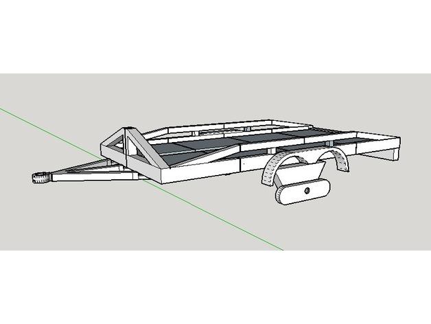 Remorque Plateau 3D pour scale et Crawler 1/10 M3a24