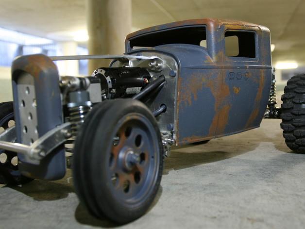 Carrosserie 3D Hotrod Pickup pour Scx10 MST CMX et tout Scale et Crawler 1/10 M3a25
