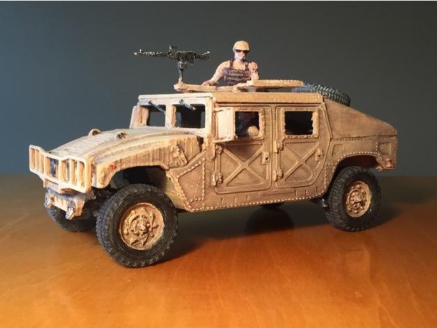 Carrosserie 3D Hummer 4x4 pour Scale et Crawler 1/10 M3a33