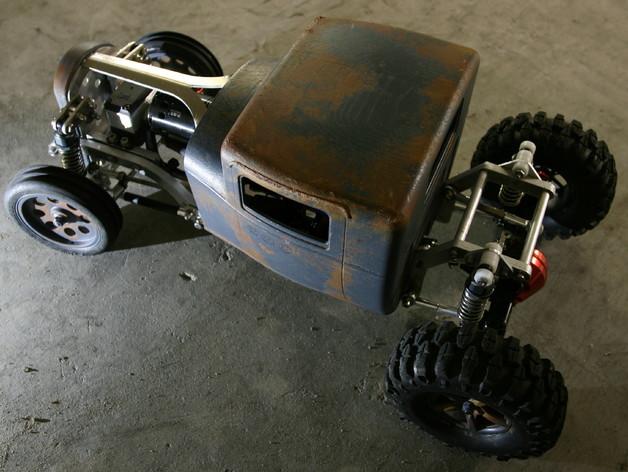Carrosserie 3D Hotrod Pickup pour Scx10 MST CMX et tout Scale et Crawler 1/10 M3b18