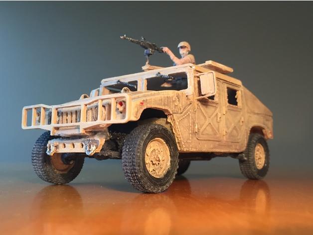 Carrosserie 3D Hummer 4x4 pour Scale et Crawler 1/10 M3b26