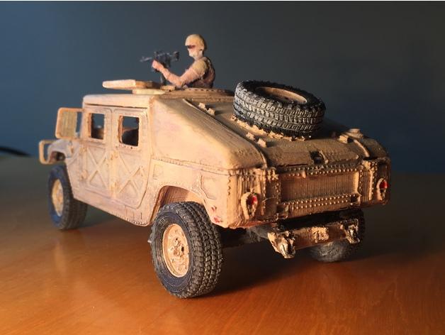 Carrosserie 3D Hummer 4x4 pour Scale et Crawler 1/10 M3c15