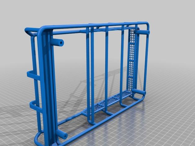 Galerie de toit 3D et Porte Bagage 3D pour Scale et Crawler 1/10 M4a11