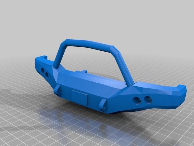 Parechoc 3D avec Attache Remorque 3D pour Scx10 et autres Scale et Crawler 1/10 M4a12