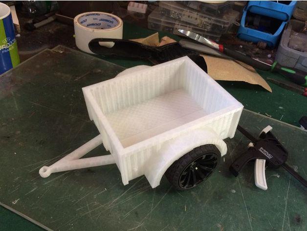 Remorque 3D Complète pour Scale et Crawler 1/10 M4a14