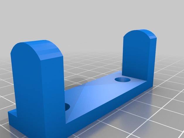 Support de Servo 3D sur Chassis pour Scale et Crawler 1/10 M4a17