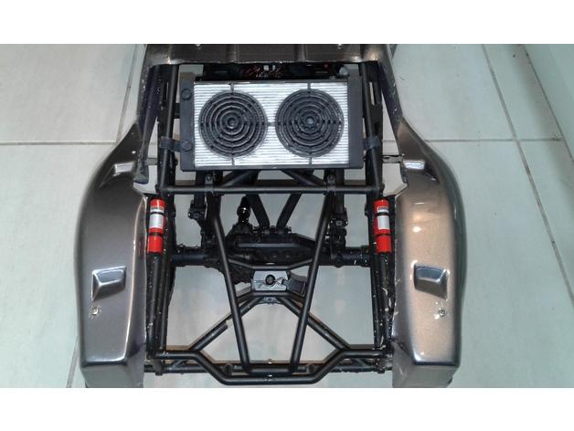 Radiateur 3D pour Scx10 et tout Scale et Crawler 1/10 M4b13