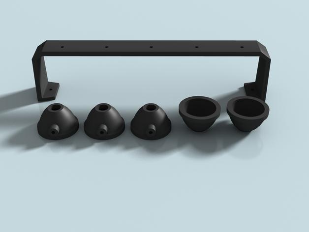 Spot de Toit 3D ou Rampe de Toit 3D à led pour Scale et Crawler 1/10 - 1/8 M4b14
