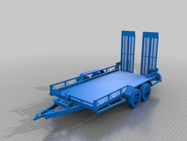 Remorque Plateau 3D pour scale et Crawler 1/10 M5a12