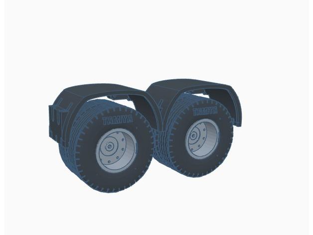 Garde Boue 3D et Passage de Roue 3D pour Scale et Crawler 1/10 M5a18