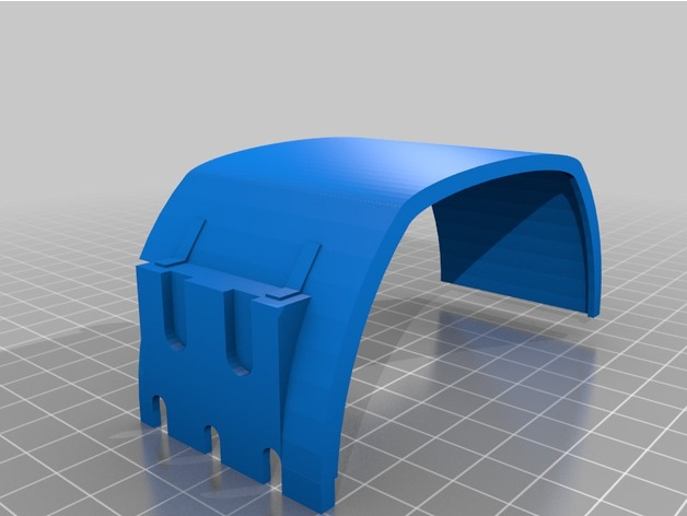 Garde Boue 3D et Passage de Roue 3D pour Scale et Crawler 1/10 M5b15