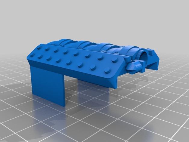 Bloc Moteur V8 et Moteur Cylindrique pour Scale et Crawler 1/10 M5b16