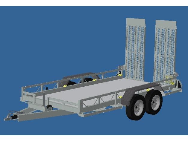 Remorque Plateau 3D pour scale et Crawler 1/10 M6a12