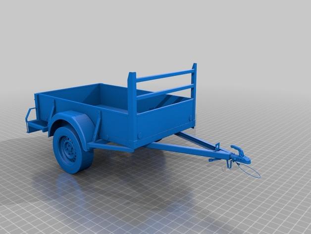 Remorque 3D Complète pour Scale et Crawler 1/10 M6a13