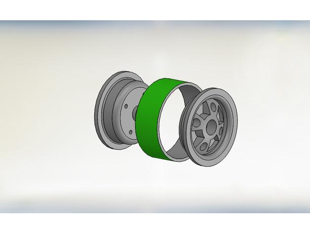 Jante Beadlock 1.9 en 3D pour Scale et Crawler M6b10