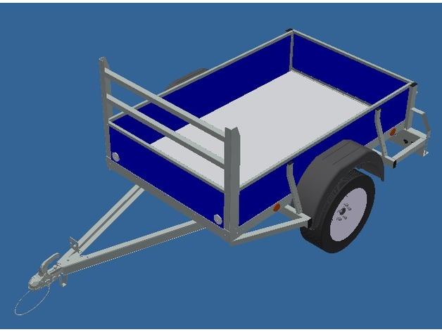 Remorque 3D Complète pour Scale et Crawler 1/10 M6b12