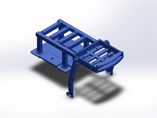 Support de Batterie 3D ou Support d'Accus 3D pour Scale et Crawler 1/10 M6c11