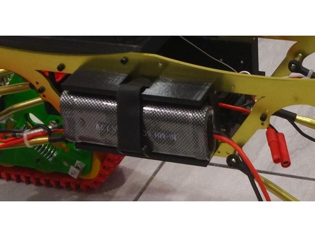 Support de Batterie 3D ou Support d'Accus 3D pour Scale et Crawler 1/10 M7a13