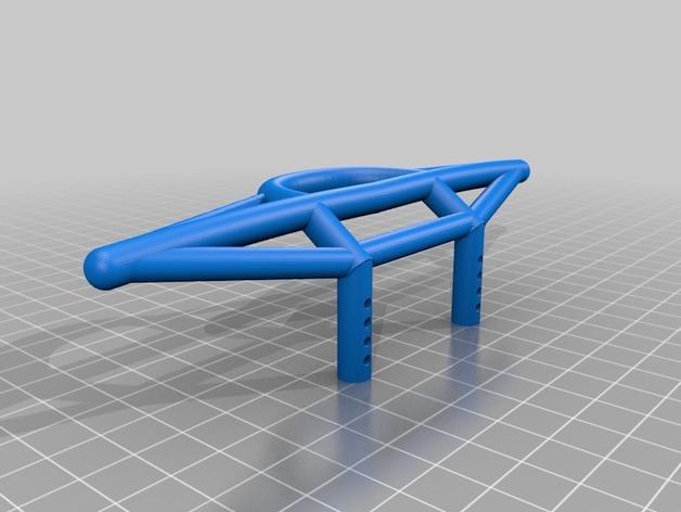 Parechoc 3D avec Attache Remorque 3D pour Scx10 et autres Scale et Crawler 1/10 M7c10