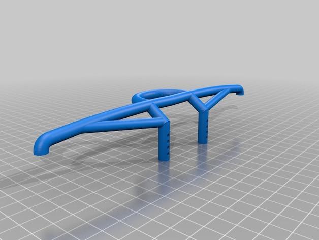 Parechoc 3D avec Attache Remorque 3D pour Scx10 et autres Scale et Crawler 1/10 M7d10