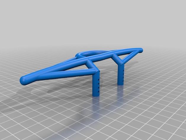 Parechoc 3D avec Attache Remorque 3D pour Scx10 et autres Scale et Crawler 1/10 M7e10