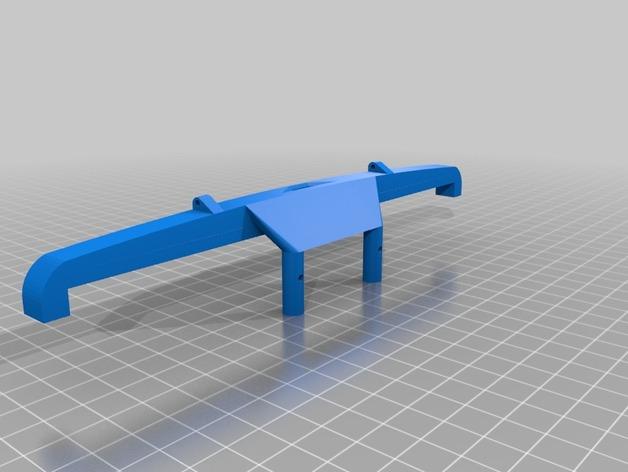 Parechoc 3D avec Attache Remorque 3D pour Scx10 et autres Scale et Crawler 1/10 M9a10