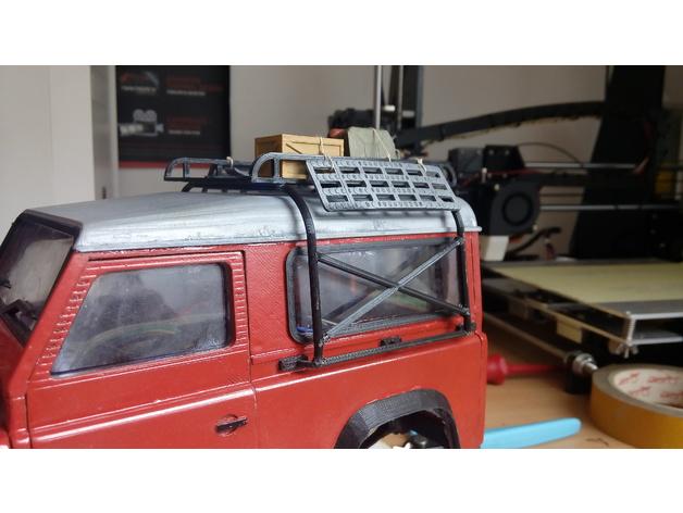 Galerie de toit 3D et Porte Bagage 3D pour Scale et Crawler 1/10 M9a12