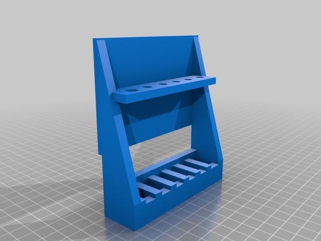 Porte fusil 3D décoration pour Scale et Crawler 1/10 Rc_sca10