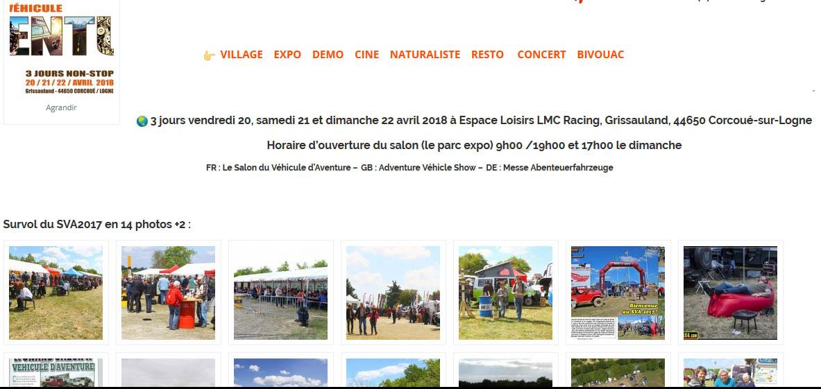 Salon du Véhicule d'Aventure SVA 2018 - Corcoué sur Logne (44) du 20 au 22 avril Sva-2010