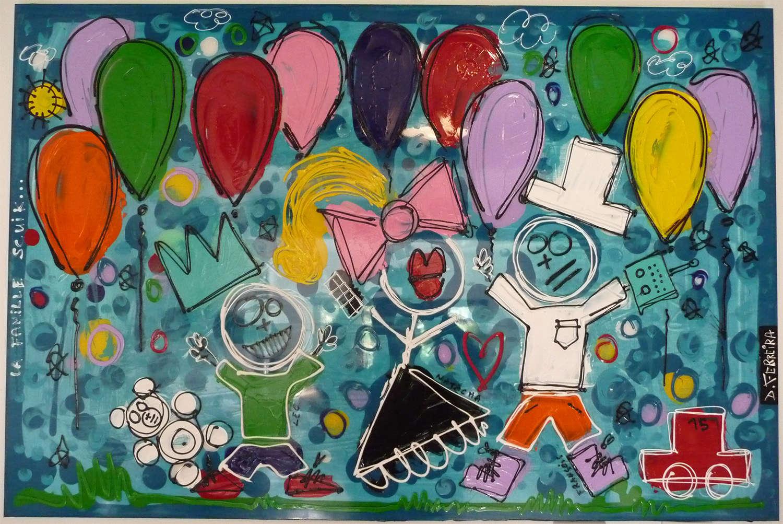L'artiste peintre David Ferreira fait un clin d'oeil au Modélisme Scale Trial : la famille à toto Tablea10