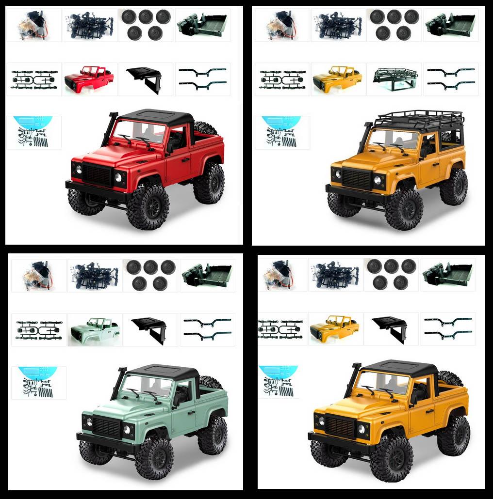 WPL C14 C24 Land Rover Defender D90 1/12 en plusieurs coloris et versions Wpl-c110