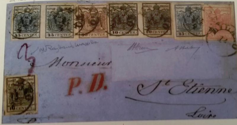 Portogebühren ins Ausland bei den 1850ern Brief11