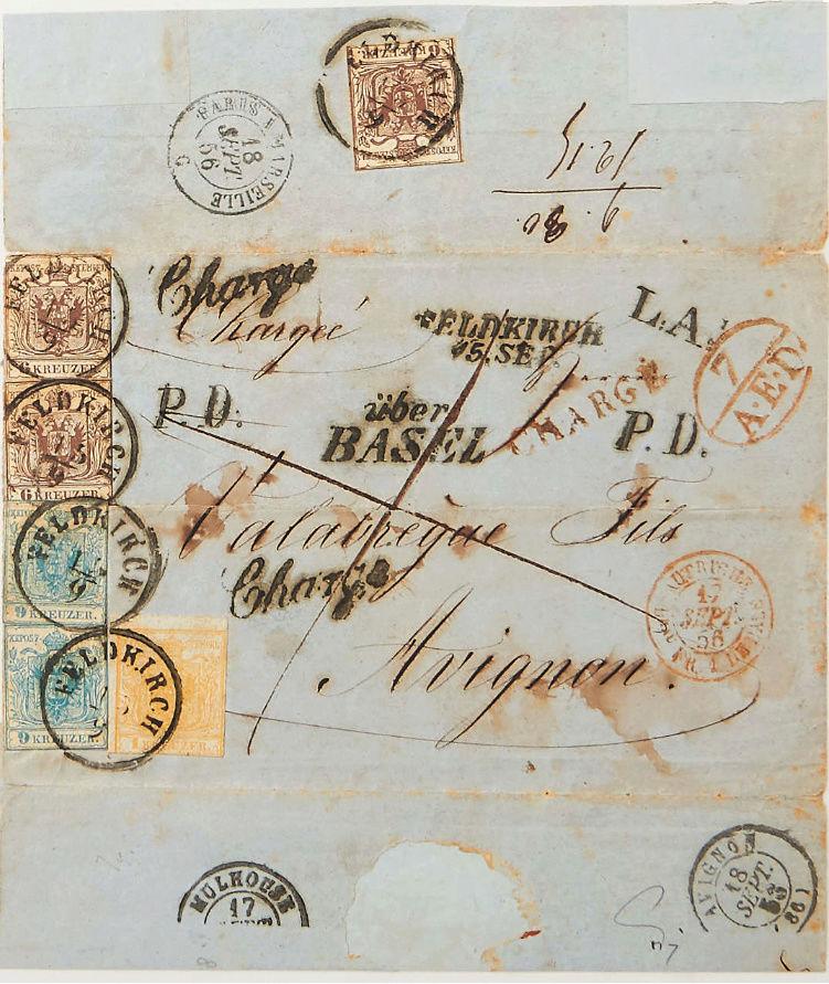 Portogebühren ins Ausland bei den 1850ern Portog10