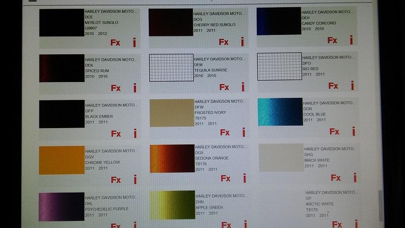 code peinture harley davidson 20180518