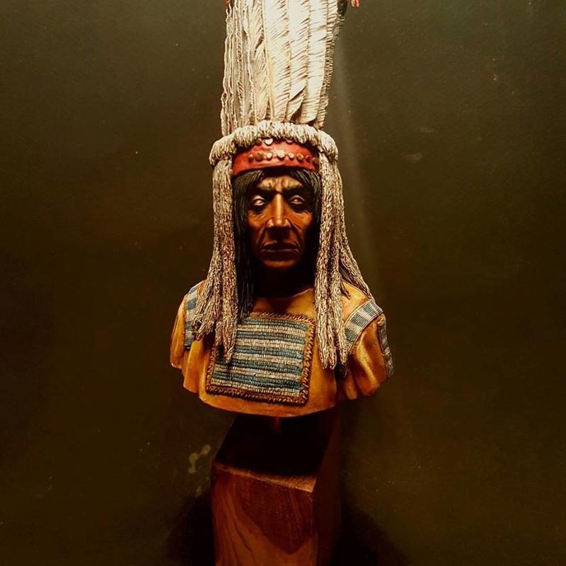 Buste d'indien blackfeet  23844910