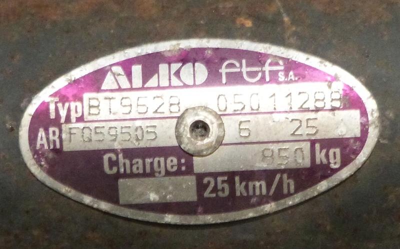 Essieu cara 39 Alko10