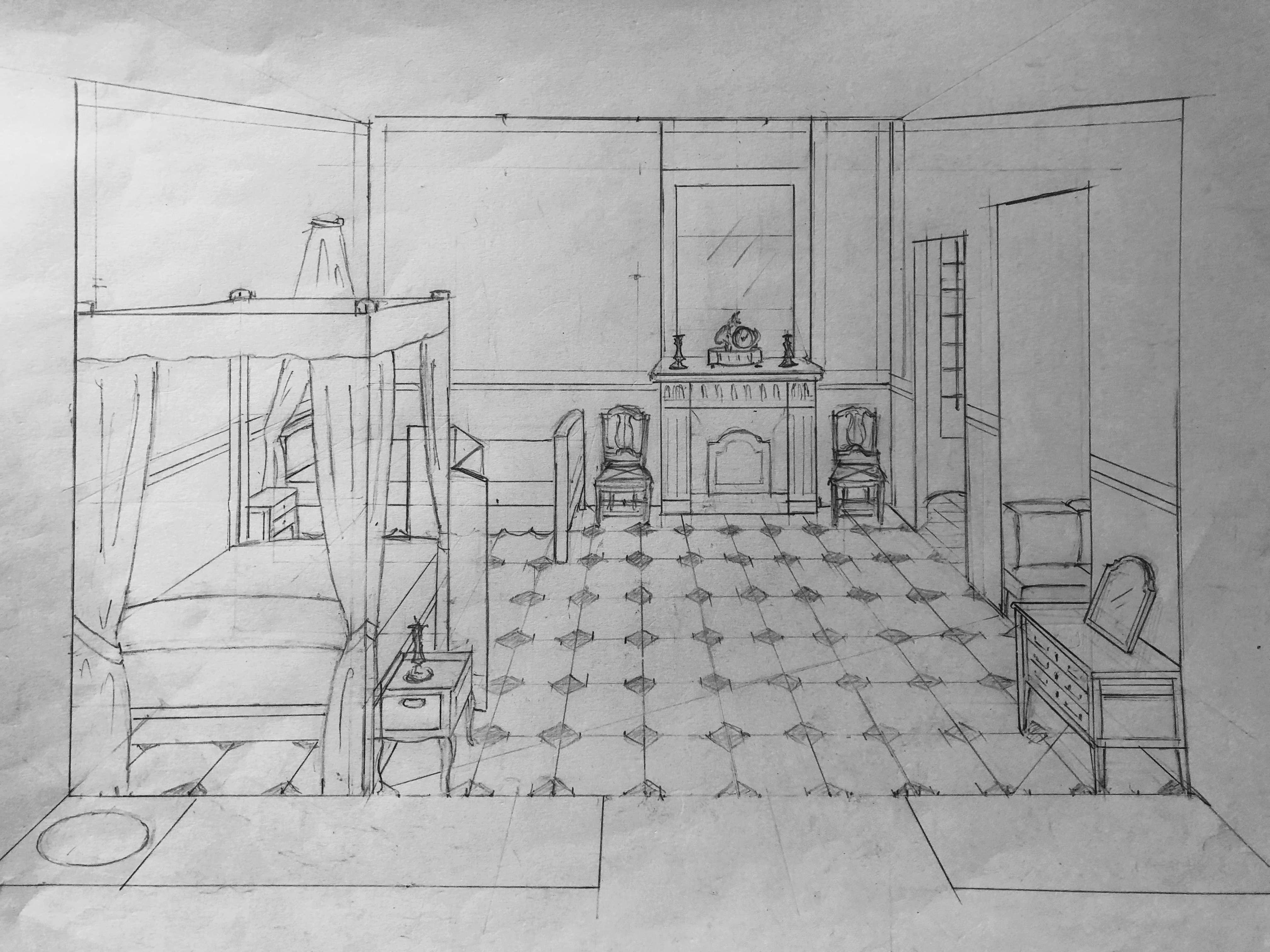 La famille royale à la prison du Temple : plans et aménagements - Page 5 Ba97d010