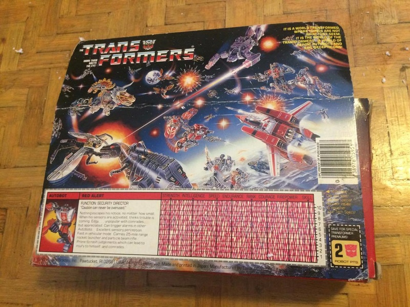 transformers - Transformers Red Alert\ Alert G1 Box Usa 21764310