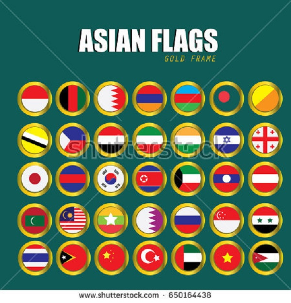 BEAUTIFUL , COLORFUL FLAGS AND BALLS FROM ALL OVER THE COUNTRY AND WORLD . Stock-72