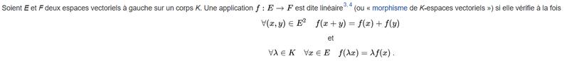 Comment savoir si une application est linéaire ou non ? 11010