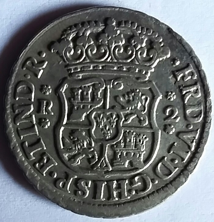 2 reales 1748 Mexico 1748a10