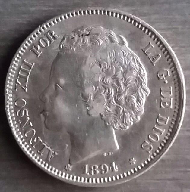 2 pesetas Alfonso XIII 1894 1894a10
