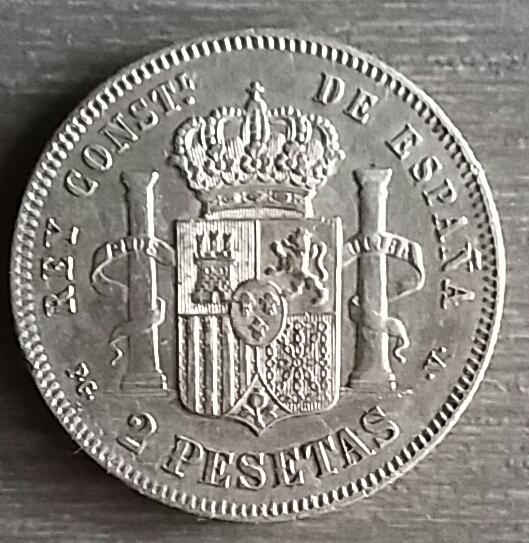 2 pesetas Alfonso XIII 1894 1894r10