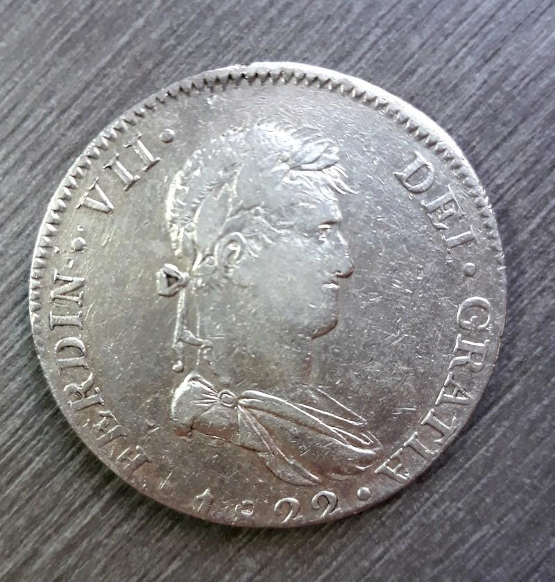 8 reales 1822 Guadalajara. 20180411