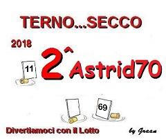 VINCITORI TERNO SECCO 2018: PENNY-ASTRID70-OMBRA Premio14