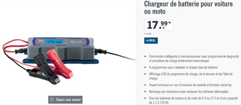 chargeur batterie Charge15