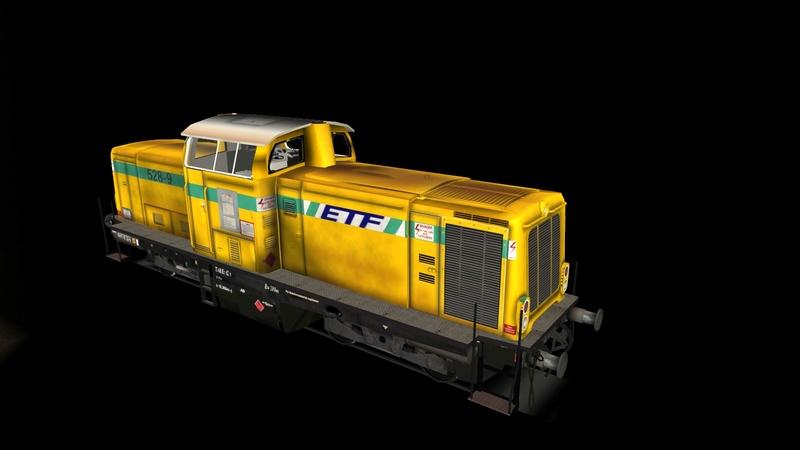 Locomotives V 211 et V 212 entreprises ferroviaires Giraud35