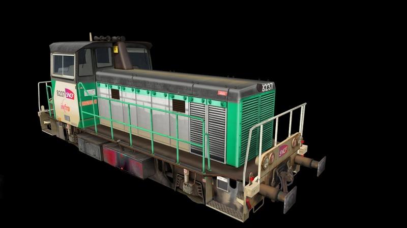 Locomotives V 211 et V 212 entreprises ferroviaires Giraud37