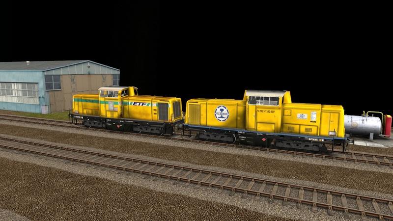 Locomotives V 211 et V 212 entreprises ferroviaires Giraud42